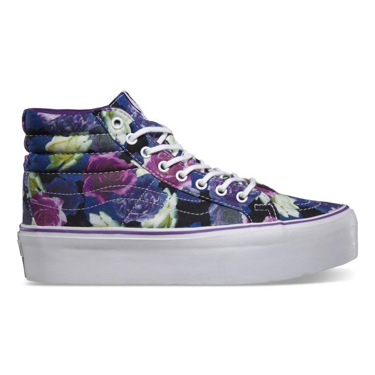 scarpe vans floreali