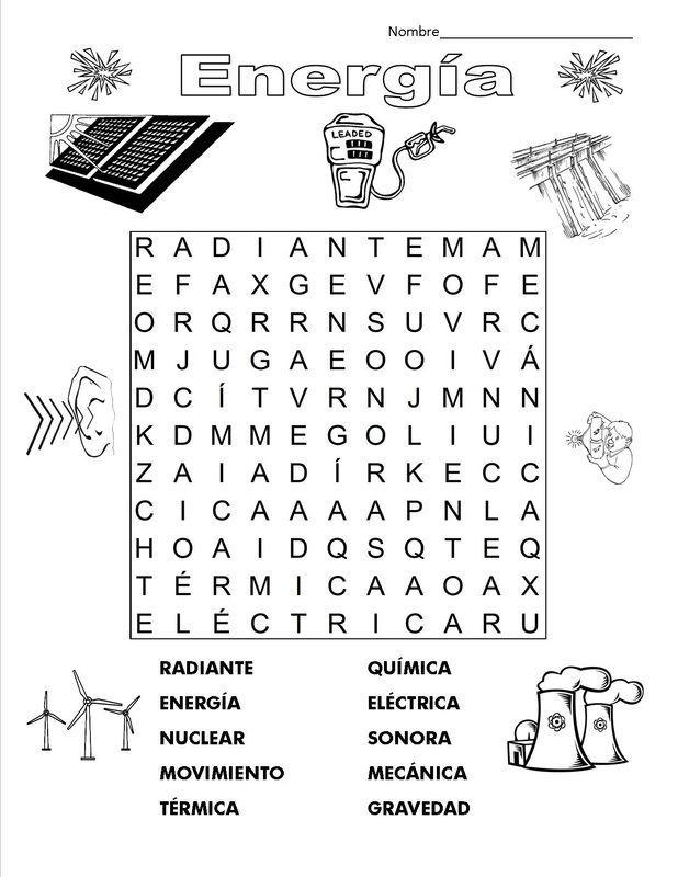 Sopa De Letras Ciencia Natural Ciencias Fisicas Tecnologia Para Niños