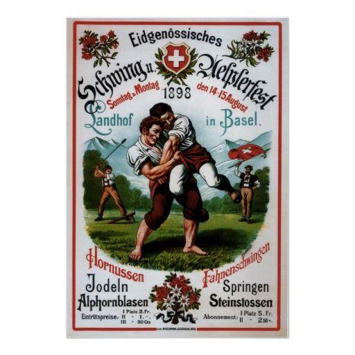 Swiss Wrestling Alpine Festival ~R. Schweizer 1899