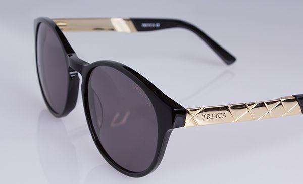 Treyca Panto 18 carat gold plated sunglasses. #Treyca #Sunglasses