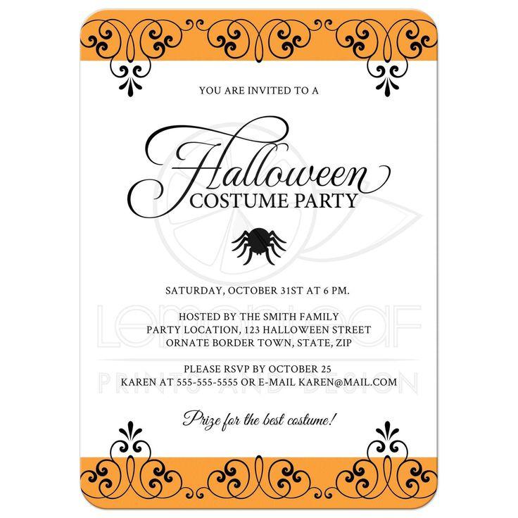 Halloween Invites Wording Kids Halloween Party Invitation Wording  Invitation Card Design. Einladungskarte DesignEinladungsbenennung EinladungskartenKinder ...
