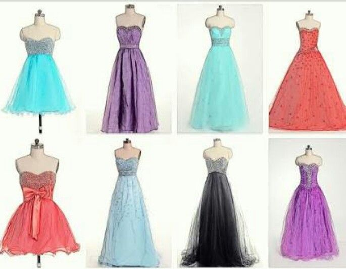 Different types of dresses but all of them are georges