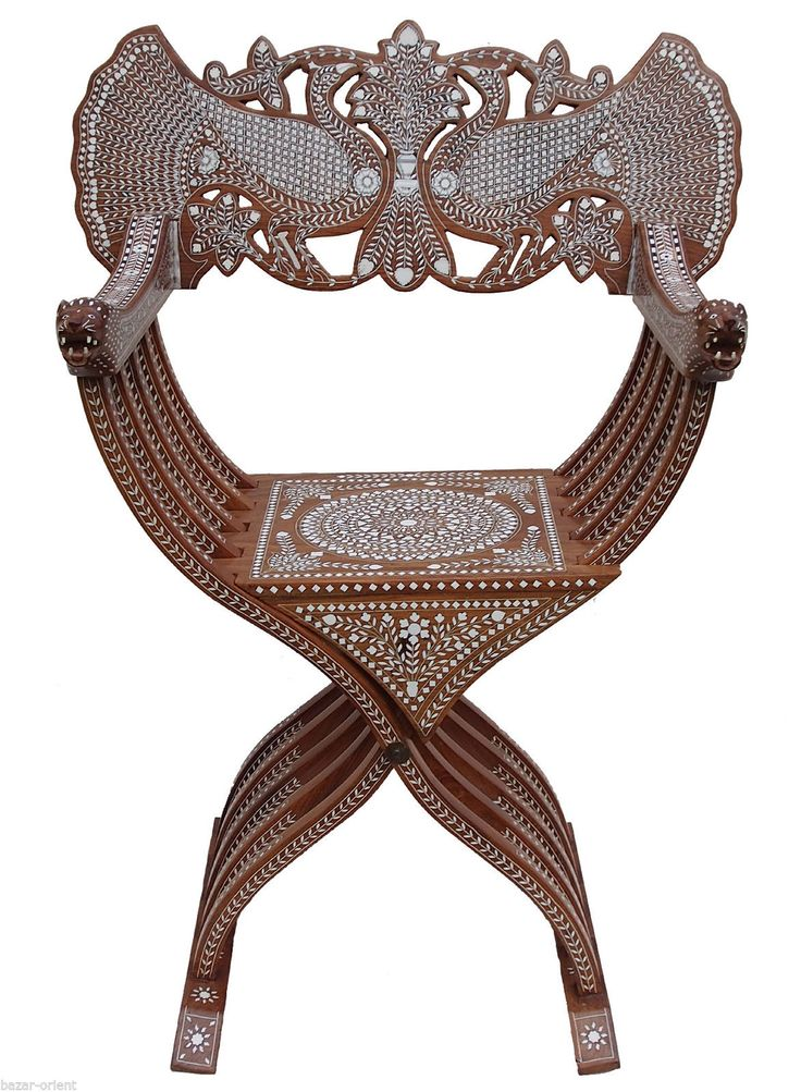 antik luxuriöse orient stuhl intarsien antique india anglo, Attraktive mobel
