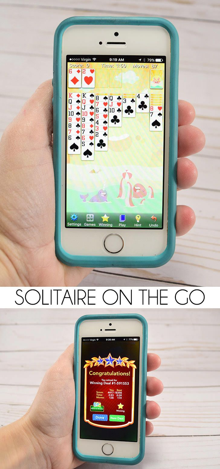 Love card games? Play solitaire on the go with this fun and free app! #ad