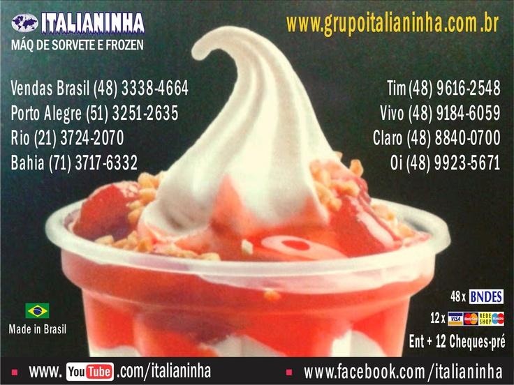 # maquina de sorvete, # italianinha, # Negócio Próprio, # máquinas que dão lucro, # muito lucrativo, # idéias, # video mais assistido, # frozen yogurt, # Açaí, # Idéia, # Milk Shake,   # Quiosque, # copa do mundo, olimpiadas, # Brasil, Máquinas -  Tel: (48) 3338-4664 (51) 3251-2635   www.grupoitalianinha.com.br  www.mundogelado.com.br  www.italianinhabrasil.com.br  www.sorveteriavirtual.com.br