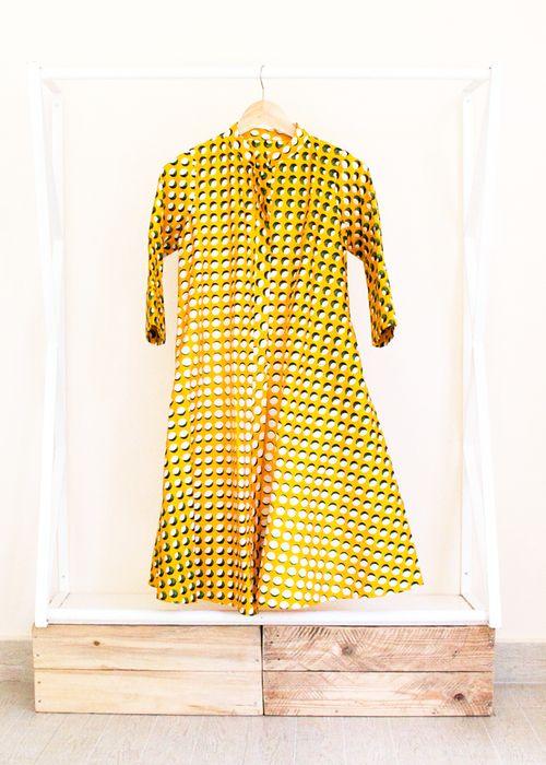 Eclipse dress in East African kitenge from Zuri Kenya