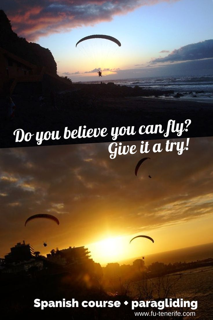 €259 Spanish Intensive 20 lessons per week + one #paragliding tandem flight. Spanish lessons every day in the morning and in the afternoon or weekends.         http://www.fu-tenerife.com/feedback-spanishcourse-annika/