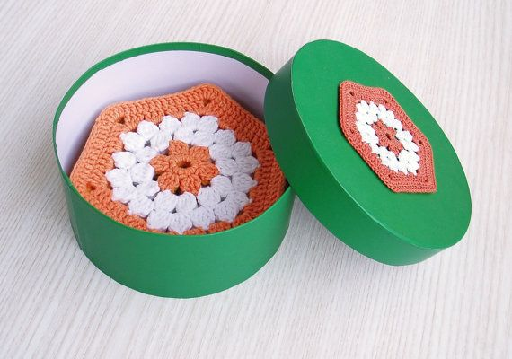 Multicolored Crochet Cup Pads Lace Crochet by TaniaNeedleArt, $28.90
