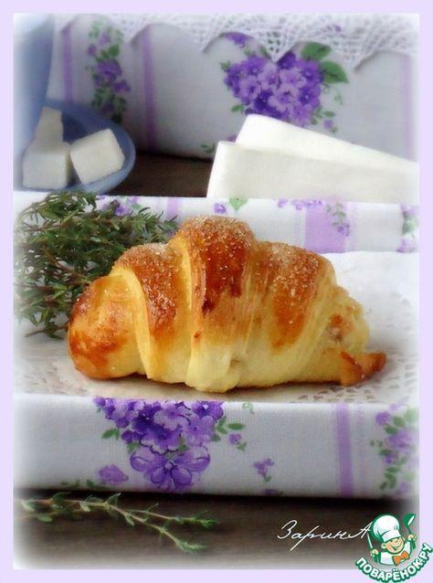 Слоеные булочки с джемом и вареной сгущенкой - кулинарный рецепт