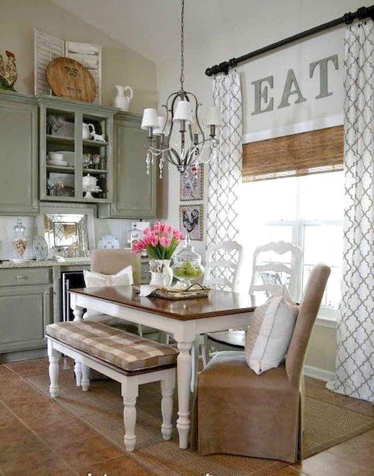 66 favourite farmhouse kitchen curtains decor ideas 50