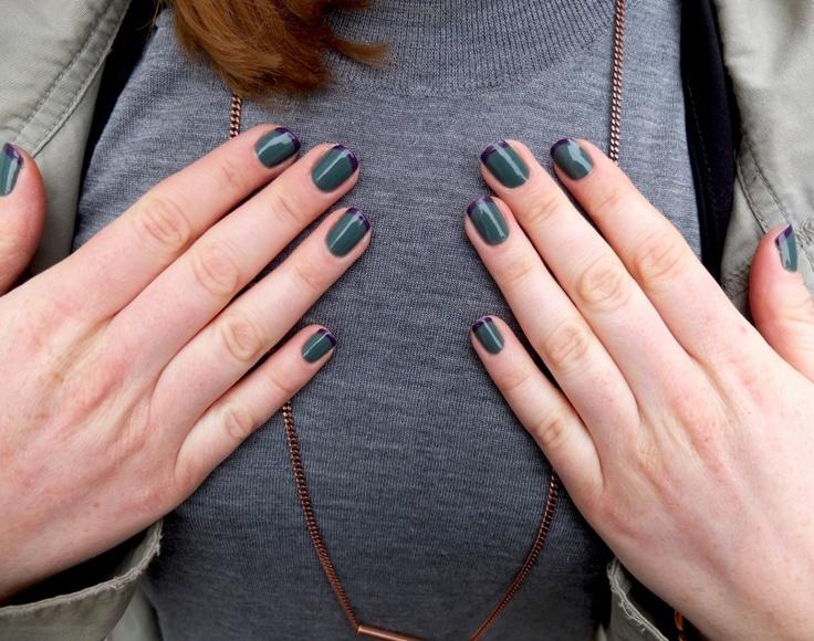 Coola naglar! Fransk manikyr i ny tappning, perfekt i höst!