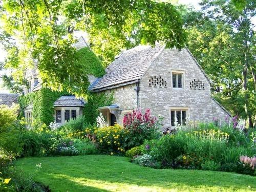 country houseStones Cottages, Dreams Home, Cottages Gardens, Country House, Country Home, Beautiful Gardens, Little Cottages, English Cottages Style, Stones House