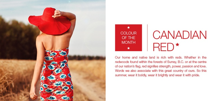 June's colour of the month is CANADIAN RED. Build up your red pieces & your pride in time for Canada Day!