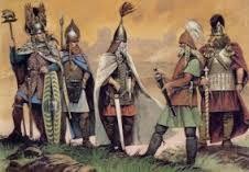 (35) 496 – Los alemanes se convierten en vasallos de los ostrogodos para pedir protección de los ataques francos. Las tribus germanas establecidas al borde sur, medio e inferior del Elba y a lo largo del Meno, fueron mencionados por primera vez por Dión Casio en el año 213.