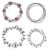 Cerchio modello di Corona di fiori
