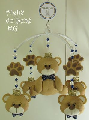 Ateliê do Bebê MG: Decoração Ursinhos