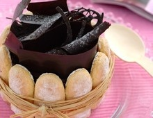Charlotte à la mousse au chocolat