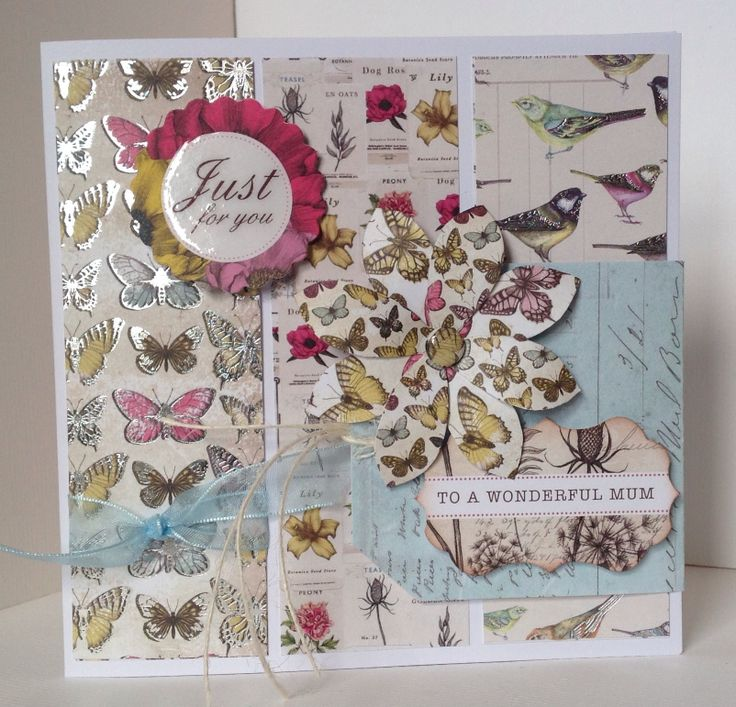 Card designed by Julie Hickey using backgrounds Tag Pad and Botanica collection.