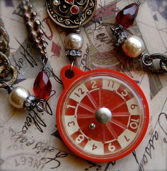 RouletteAntique Vintage Miniature Roulette Game by Opaline1214. $166.00