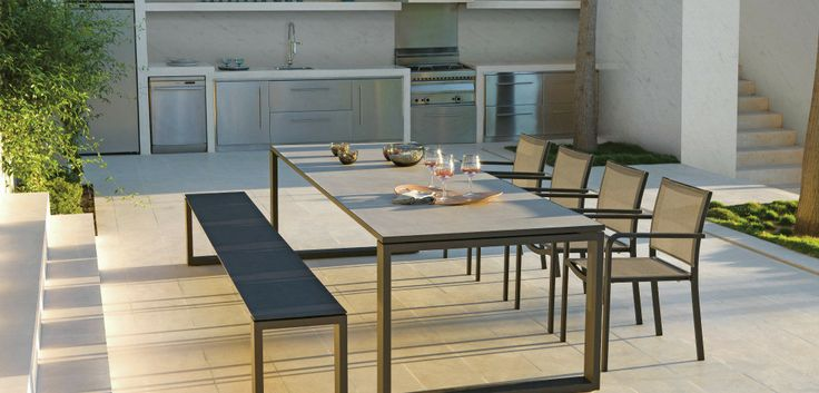 Outdoor Patio Ideas Contemporary outdoor dining bench