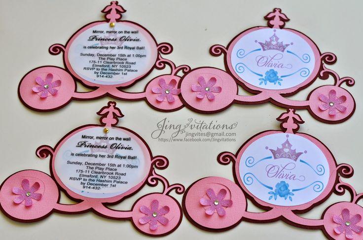 cricut cinderella invitations - Google Search