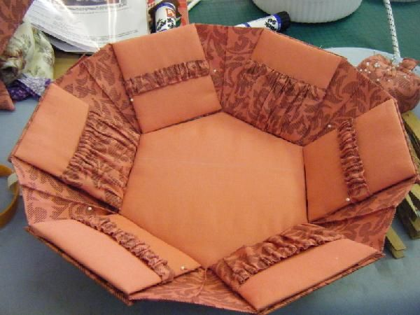 Tutorial for making a fold-out, hexagonal, fabric-covered needlework box