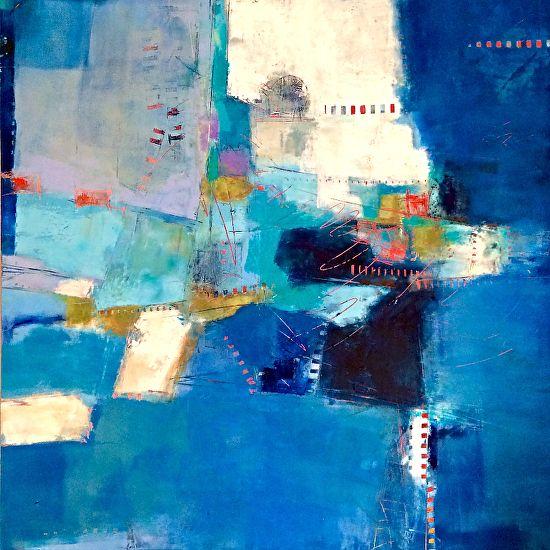 Indigo 1 by Sue Jachimiec Wax and Oil ~ 24 x 24