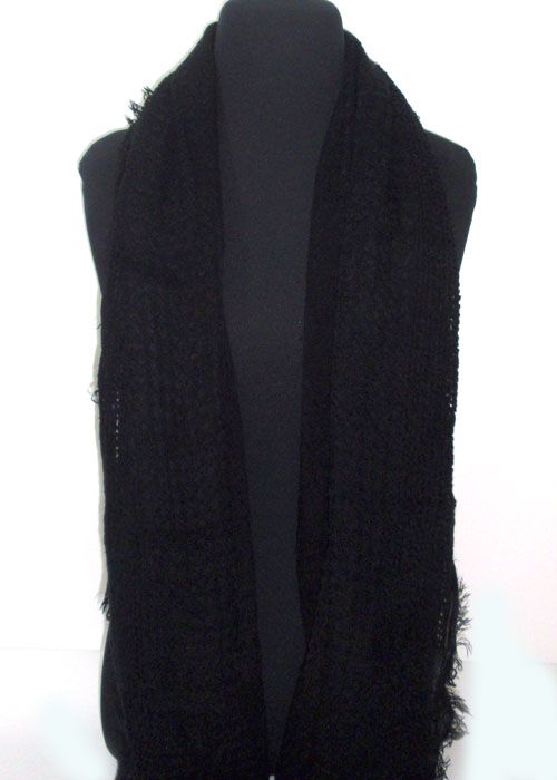 very soft single coloured scarf, differnt patterns of knitting._fashion woman accessories.