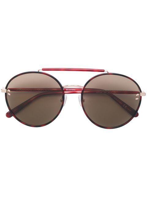 42bab694a Stella McCartney Eyewear Óculos De Sol Redondo em 2019 | Must have ...