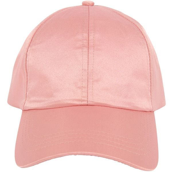 Armitage Avenue Satin Baseball Cap ($13) ❤ liked on Polyvore featuring accessories, hats, pale pink, baseball cap, baseball hats, satin hat, baseball cap hats and ball cap