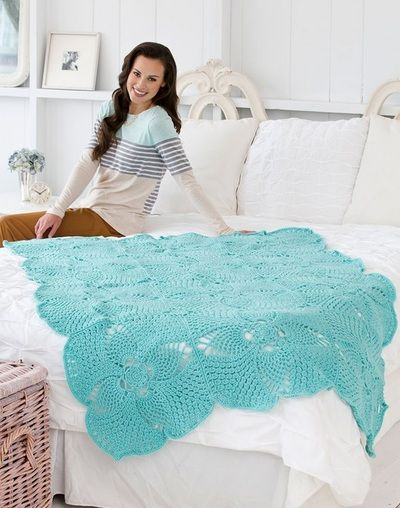 Free Pineapple Crochet Afghan Pattern