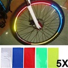 5 x Reflective Sticker Warning Sticker Decal for Bicycle Rims - Color Assorted