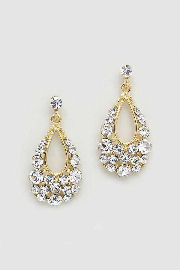 Austrian Crystal Mina Earrings//
