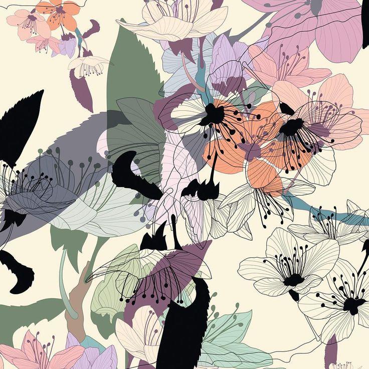 Cherry Tree Blossom Light by Catalin Popa available on patternbank → https://patternbank.com/catalinpopa
