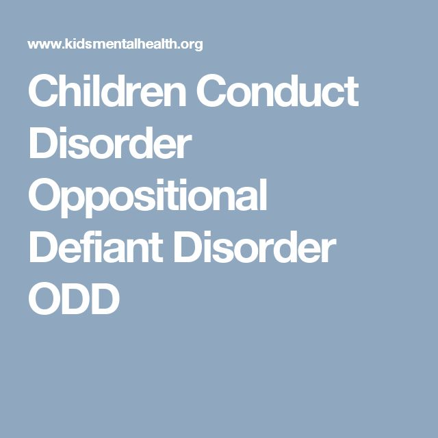 relationship between oppositional defiant disorder and conduct
