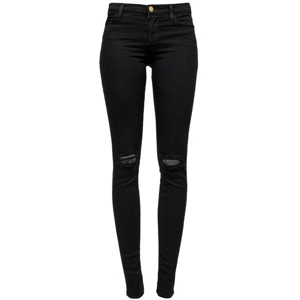 J BRAND Midrise Blackout Jeans found on Polyvore