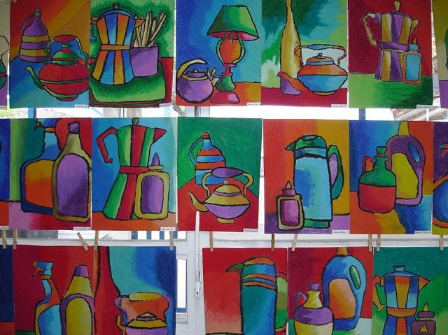 5th grade still life - complementary colors