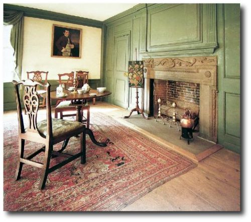 American colonial puritan simplicity to georgian grace - Federal style interior decorating ...