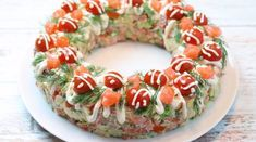 Салат «Русские традиции» в новогоднем оформлении