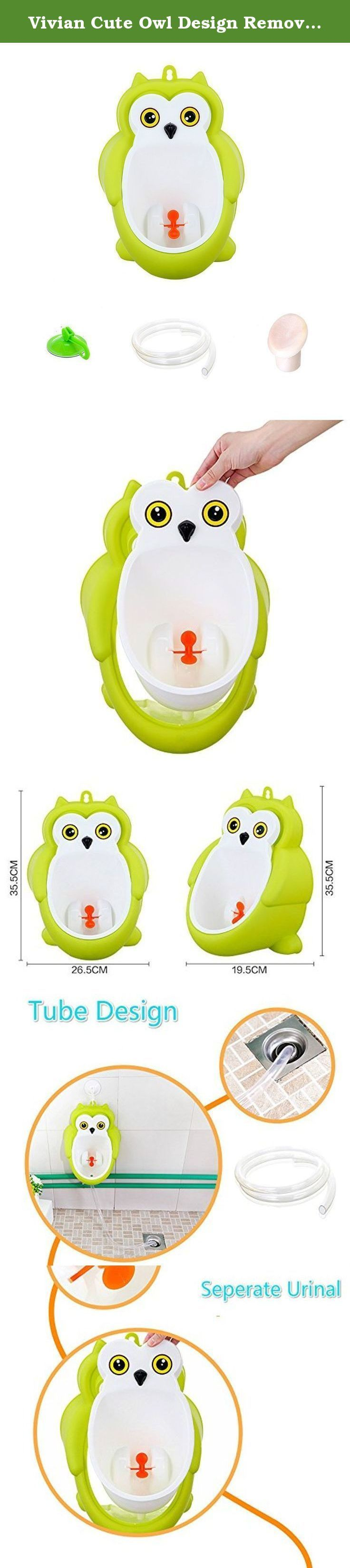 Vivian Cute Owl Design Removable Toilet Training Kids Urinal Early Learning Boys Pee Trainer (Green). Vivian Cute Owl Design Removable Toilet Training Kids Urinal Early Learning Boys Pee Trainer Features: Super large separable toilet bowl,easy to clean Matched water pipe and special bottom water plug ensures no spilling Cute appearance design and interesting aiming target appeals your boys well Perfect for Toilet Training for Boys between the ages 1 and 10 Size: 26.5*19.5*35.5cm Package...