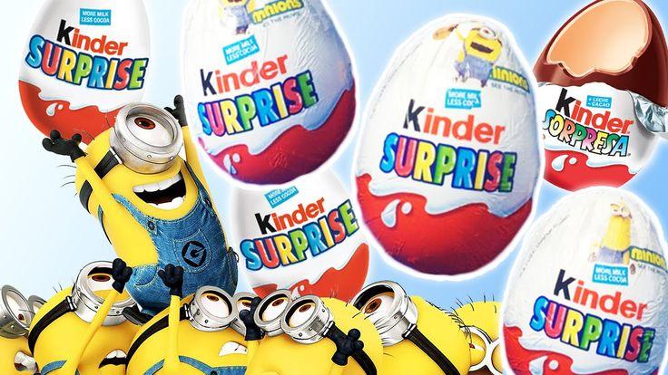 Huevos kinder SORPRESA MINIONS * Dulces de los MINIONS