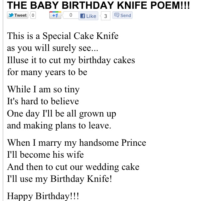 wedding cake knife poem 7 best images about birthday knife on boy 23025