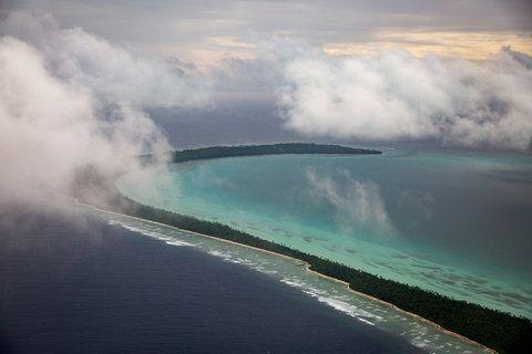 A view of South Tarawa, Kiribati, on March 30, 2016.