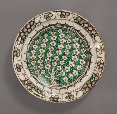Islamic Plate, Turkish, Ottoman Dynasty 1550/1600 Detroit Institute of Arts