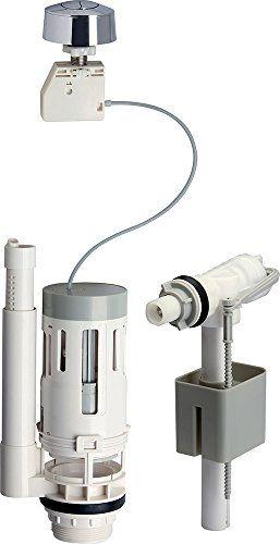 ROUSSEAU 4231439 Promo Kit de Chasse d'eau avec mécanisme à bouton poussoir/robinet flotteur 3/6 L: Mécanisme pour réservoir WC apparent…
