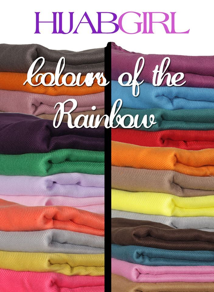 Hijabs in every colour of the rainbow! #hijabs #shayla #wraps #hijabgirluk