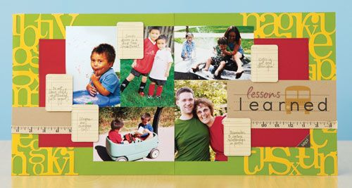 Lessons Learned scrapbook page by Amanda Probst
