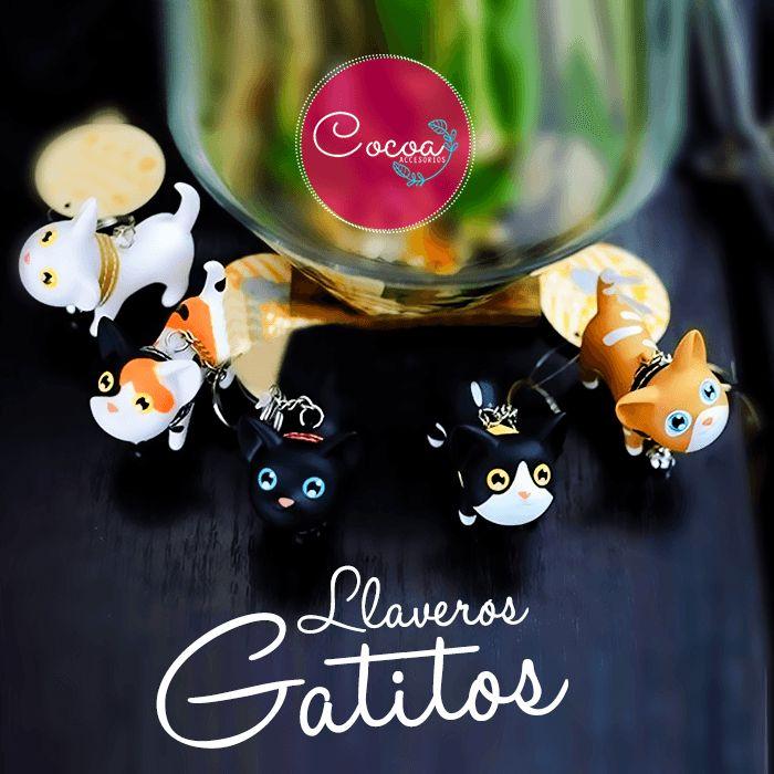 LLavero de gatitos en diferentes colores..¿Cuál prefieres?  #Cocoaccesorios #accesorioscocoa #accesoriosParaMujer