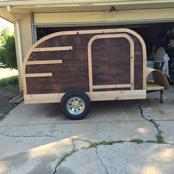 1st Side Trim Need 2nd Coat Stain Then Exterior Lacquer My Custom Teardrop Trailer Pinterest