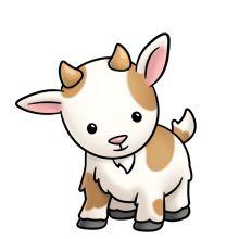 GOAT COW CLIP ART FARM CLIPART